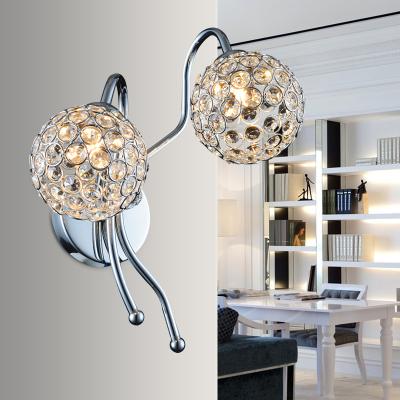Fashion Crystal Bedroom Wall Lamp Bedsides Wall Lamp Living Room Wall Lamp