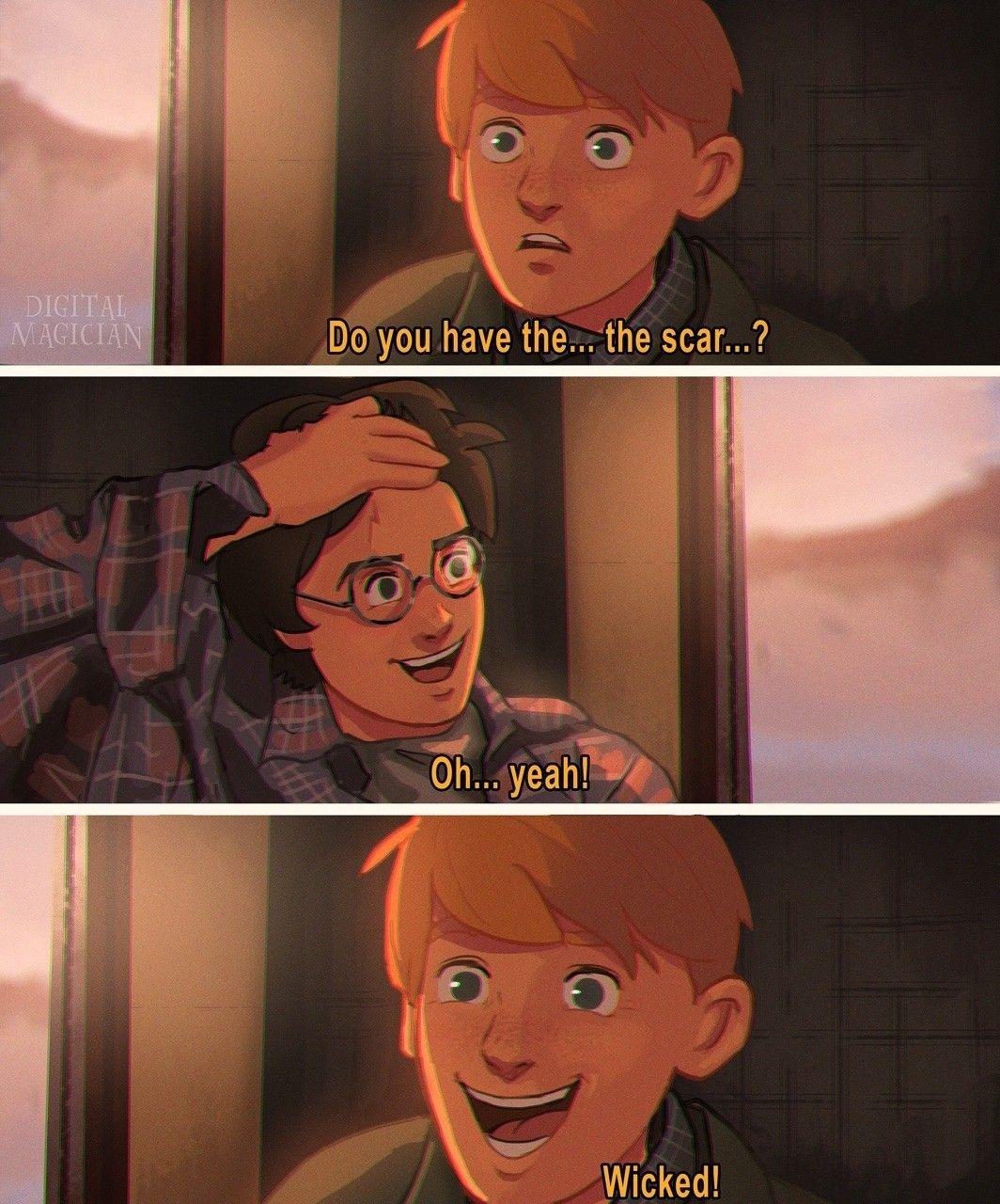 Harry Potter Animated Harry Potter Comics Harry Potter Scar Harry Potter Funny