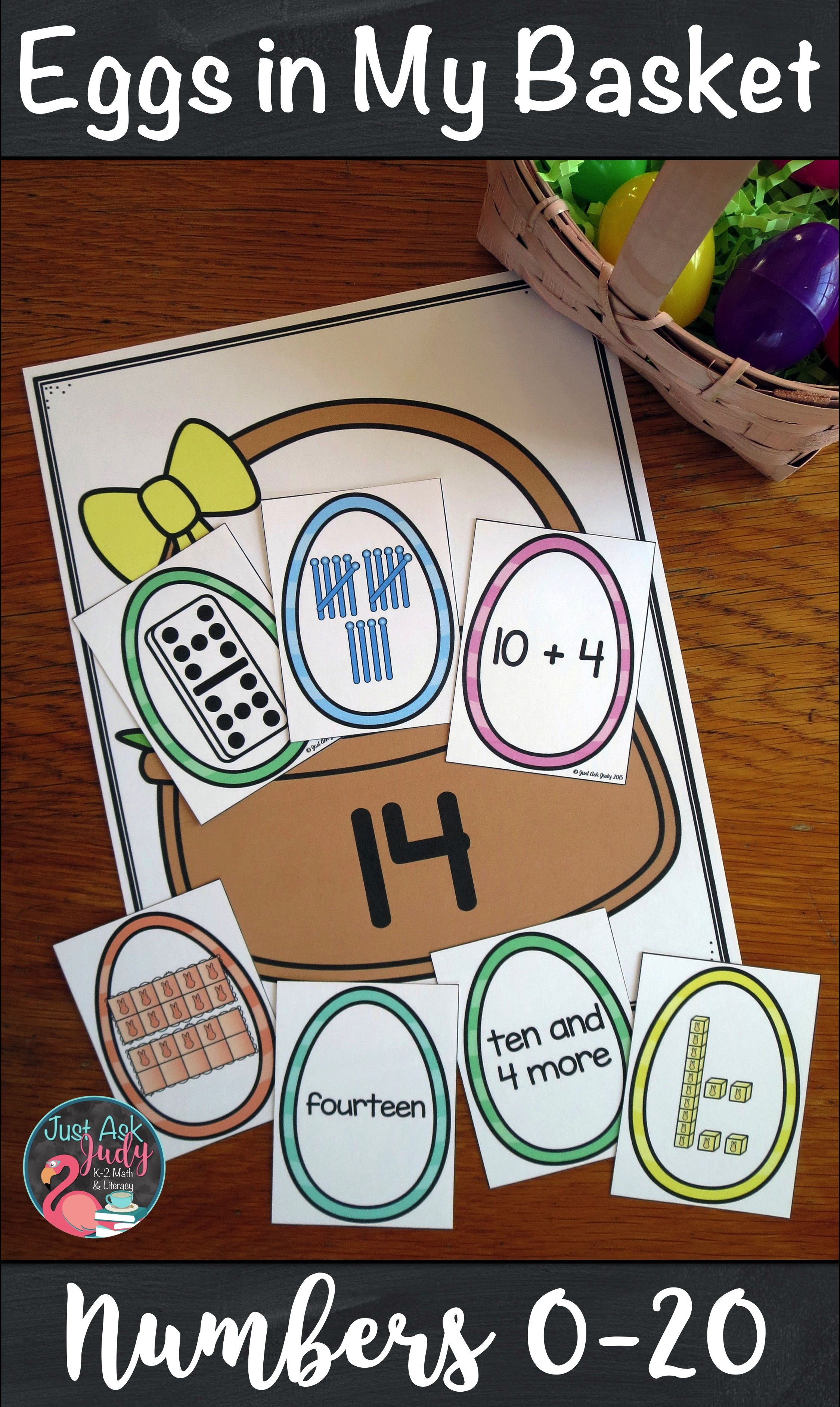 Eggs In My Basket 0 20 Easter Math Easter Preschool Preschool Math Centers [ 3767 x 2249 Pixel ]