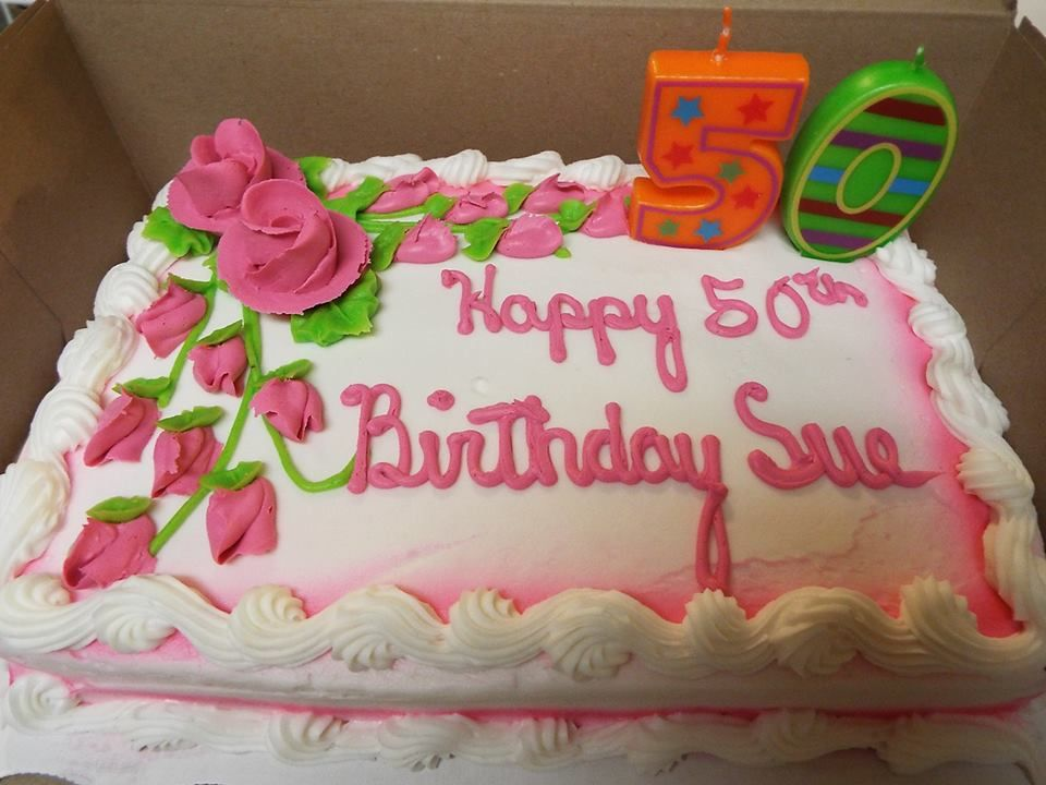 Happy 50th Birthday Sue Cakes Cupcakes Pinterest Happy
