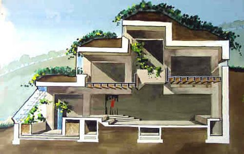 Earthship Interior An Overview of Alternative Housing Designs