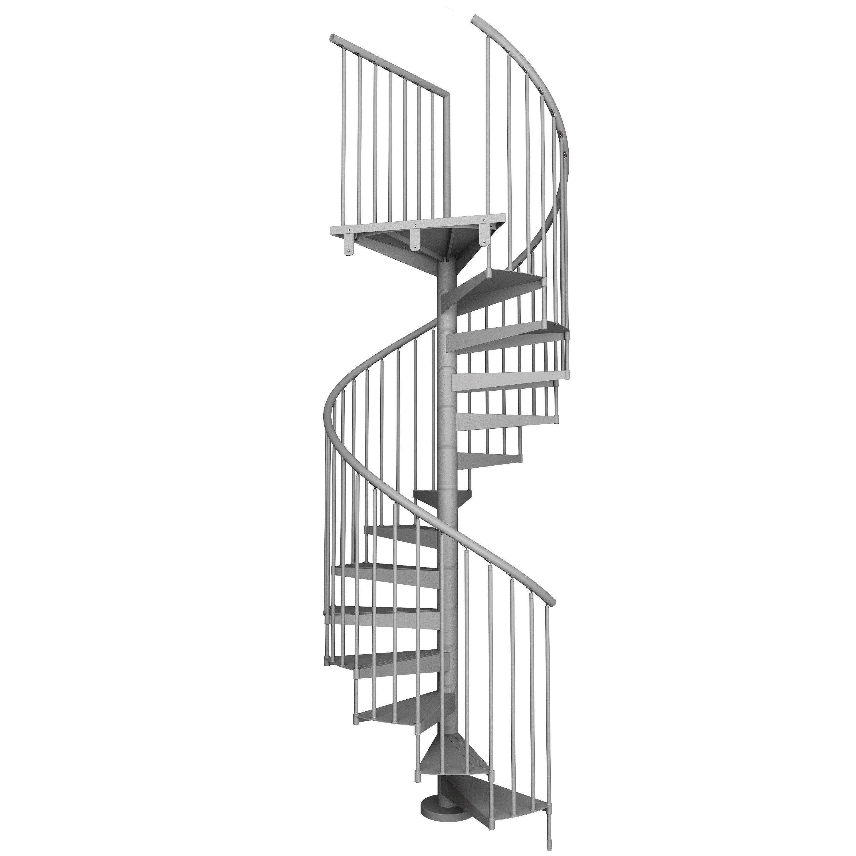 Escalera Metalica Finest Escalera De Caracol Metalica With  ~ Dimensiones Escalera De Caracol