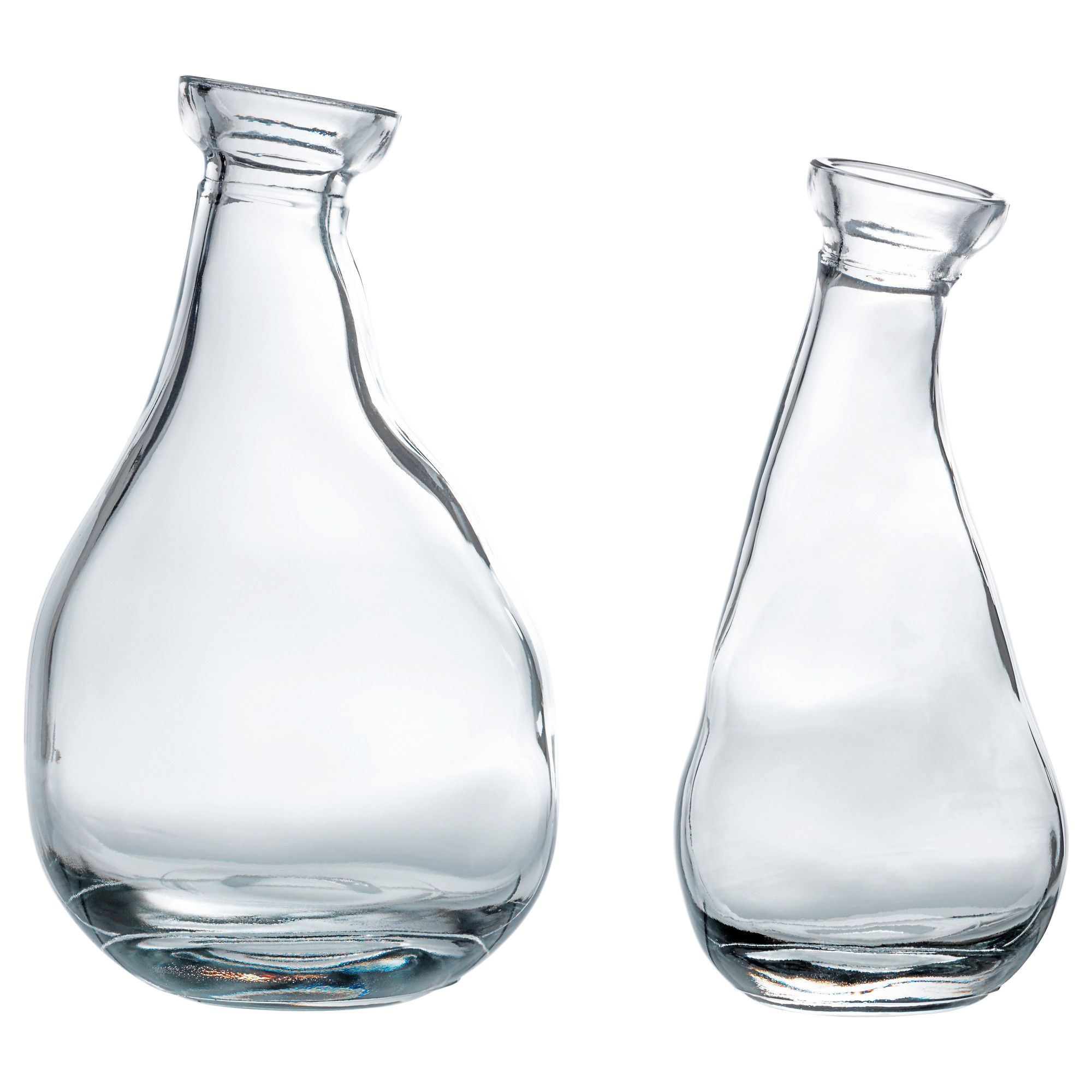Glass Vases Ikea Ikea VÅrvind Vase Set Of 2 The Unique Shape Makes The Vases