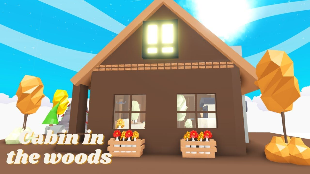 Woods Cabin Adopt Me Speed Build Glitch House Cabins In The Woods Unique House Design Cute Room Ideas