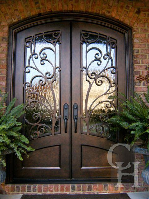 Iron Double Door Clark Hall Iron Doors Charlotte Nc