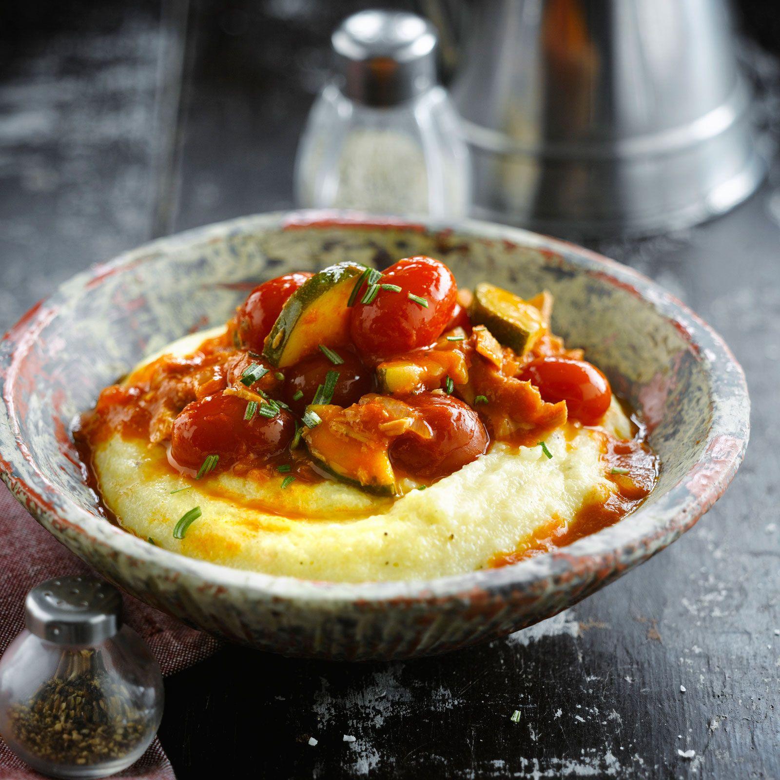 Polenta aux légumes et au thon | Recette | Recettes de ...