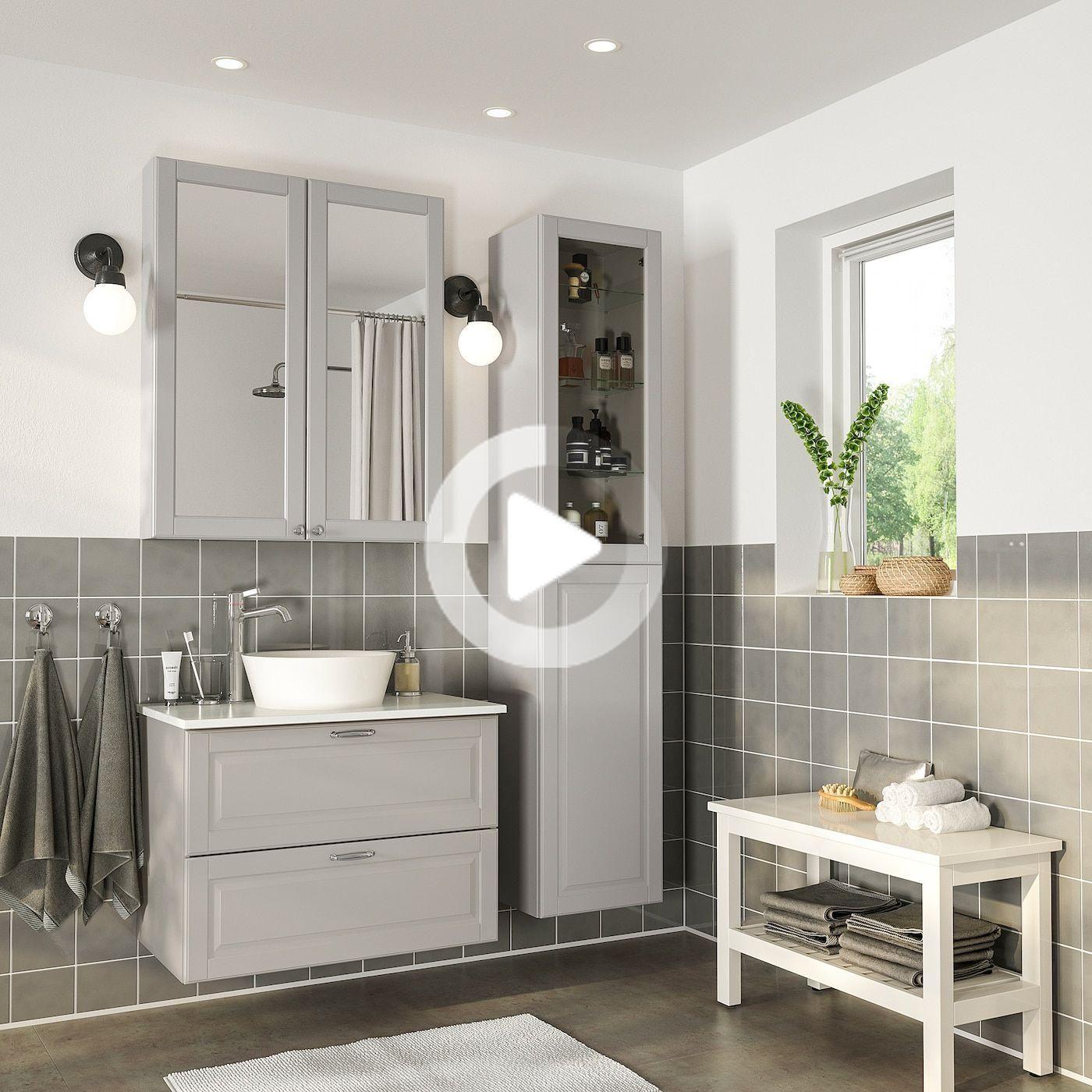 IKEA - GODMORGON/TOLKEN / KATTEVIK Mobilier salle de bains, 18
