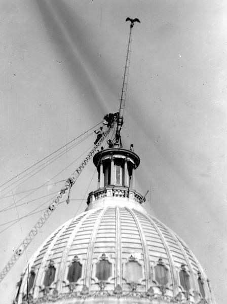 Wisconsin State Capitol (Third) Demolition | Photograph | Wisconsin Historical Society