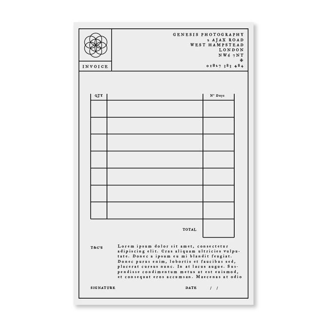 Invoice Design 50 Examples To Inspire You Invoice Design Photography Invoice Design