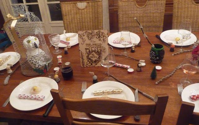 Table Noël à Poudlard Christmas At Hogwarts Harry Potter