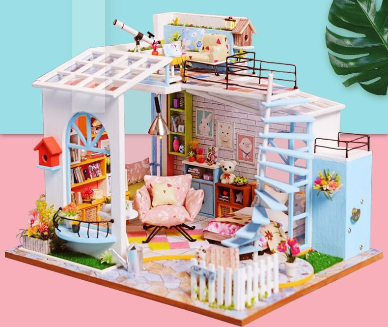 Casa Doll House Furniture Miniature Diy Miniature Box Theatre Toys For Ezbuypay Dollhouse Kits Dollhouse Toys Dollhouse Miniatures Diy