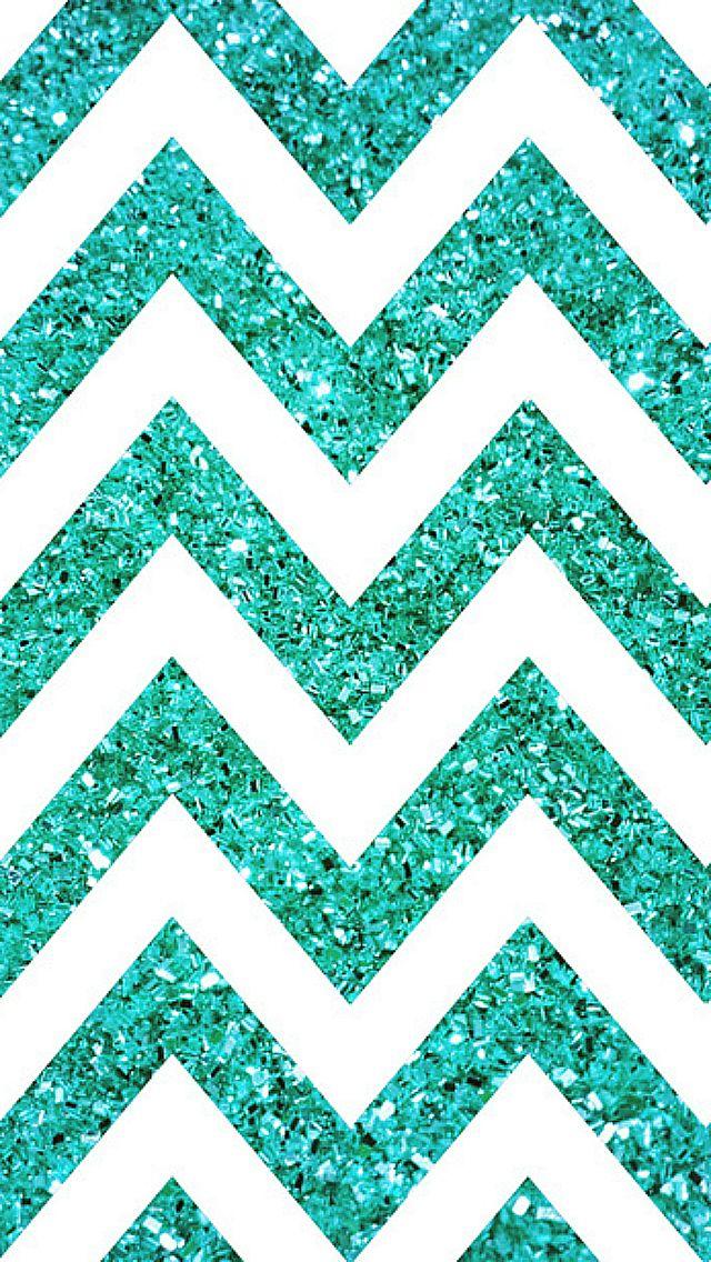 Cellphone Wallpaper Spark Blue Teal Chevron WallpaperGlitter