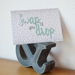 Ansichtkaart 'Swap 'til you drop'