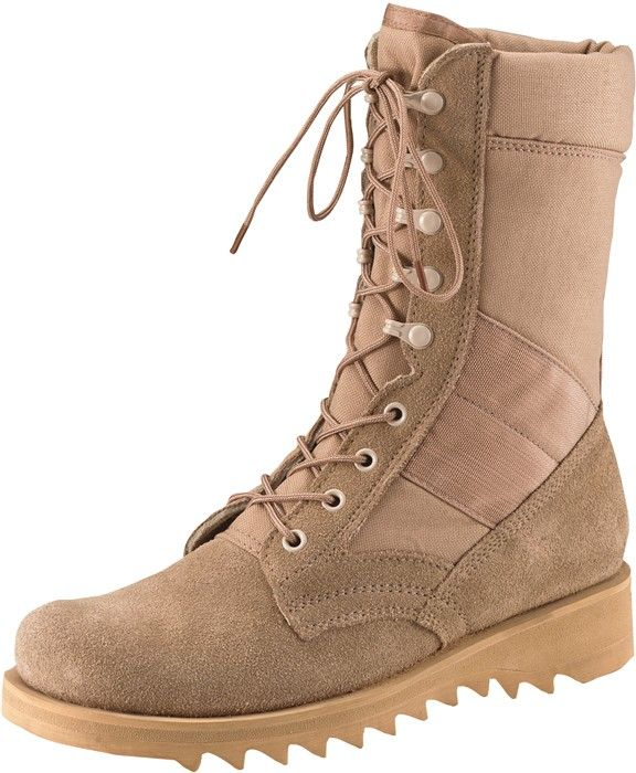 Desert Tan Military Leather Speedlace Ripple Sole Jungle Boots ... 395281b7477