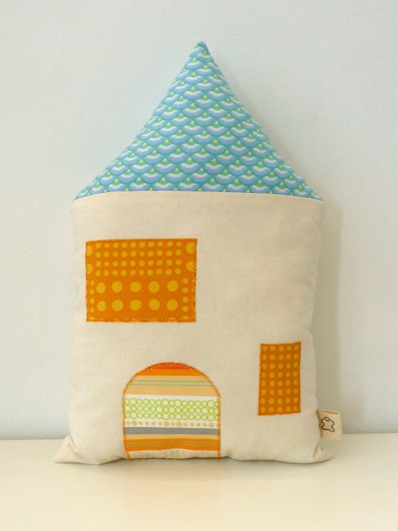 Items similar to Pillow Cushion Little House no.1 on Etsy