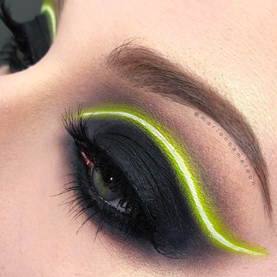 You Need To Try The New Neon Light Makeup Trend Futuristic Makeup