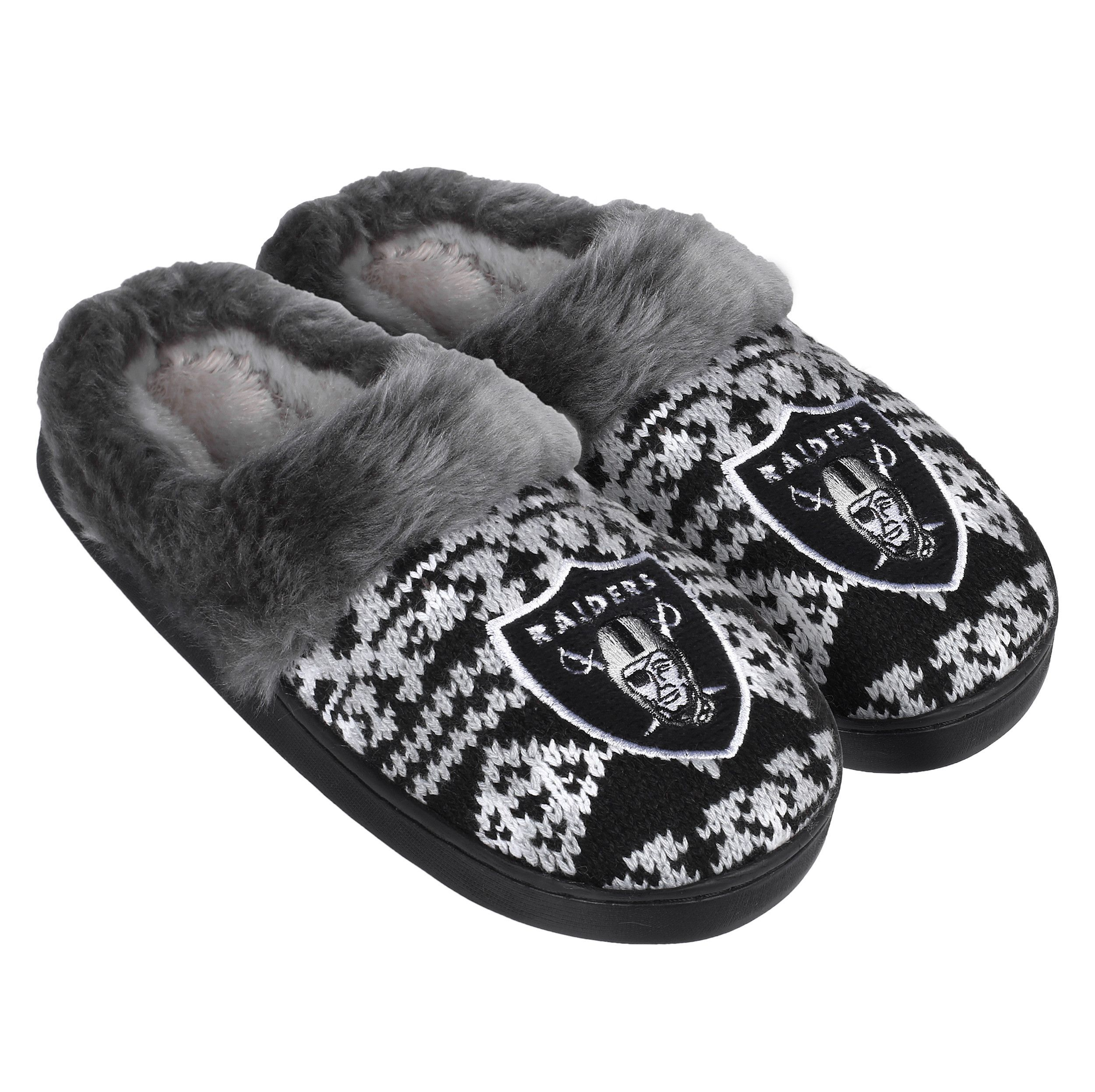 24cca480b11 Oakland Raiders Women s Aztec Slide Slipper - 12pc Case