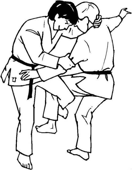 Coloring Judo Judo Martial Arts Kids Sports Coloring Pages