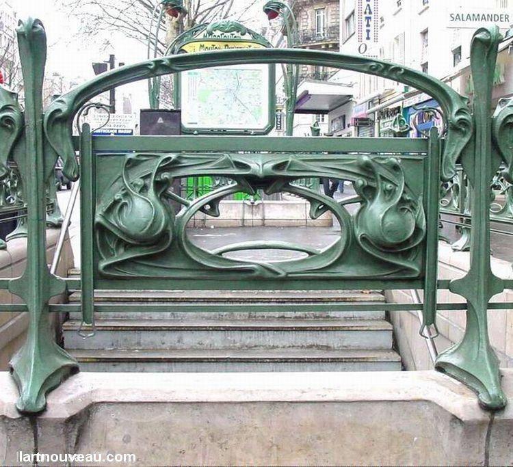 Hector Guimard (1867-1942). Métro Mouton-Duvernet. 1909. Paris 14e - France