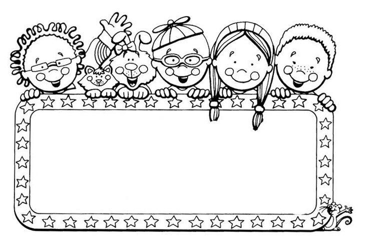 coloring border pages for kids | Pin en Ausmalbilder