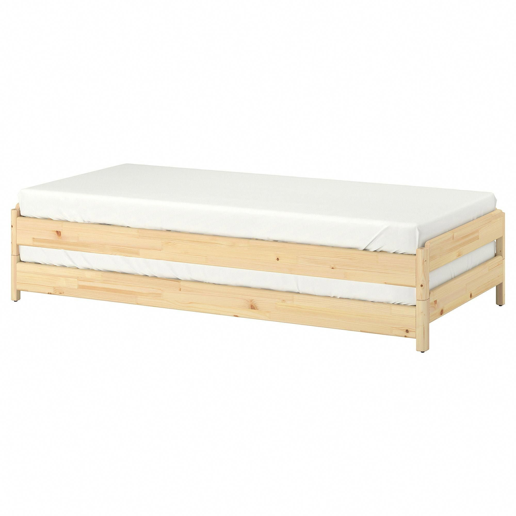 IKEA UTÅKER, Stackable bed, pine, You can quickly