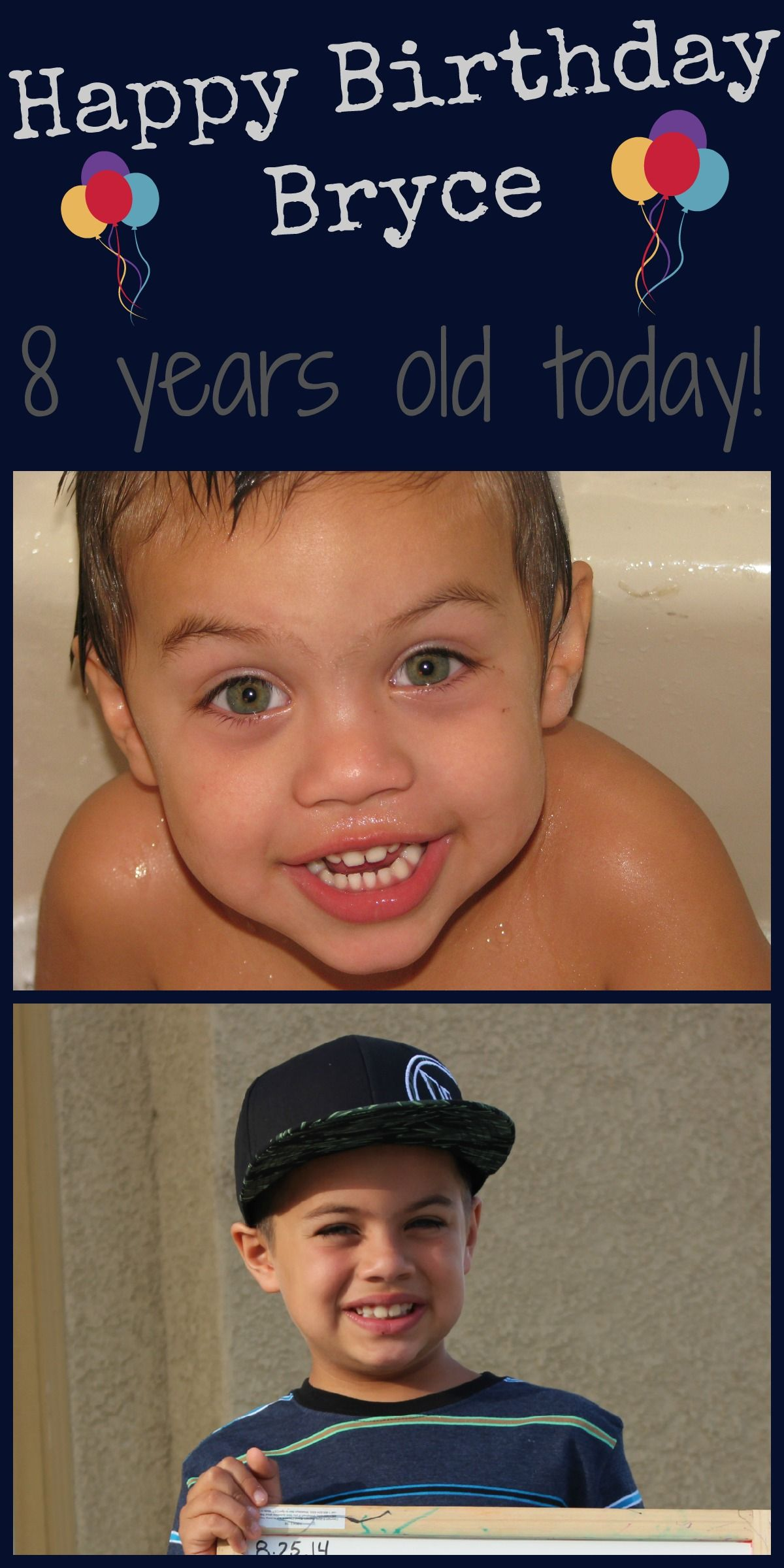 Check out and see some of my favorite pictures through the years! http://mehaffeymoments.blogspot.com/2014/08/brycie-turns-8-today.html #blogger   #momlife   #birthdayboy   #8yrsold   #mehaffeymoments   #celebratemotherhood