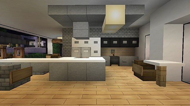 Minecraft Kitchen Ideas Dining Room Design Youtube Casas Minecraft Arquitectura Minecraft Disenos Minecraft