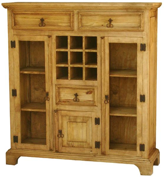 Rustic Pine Kitchen Cabinets: Rustic Furniture - Mexican