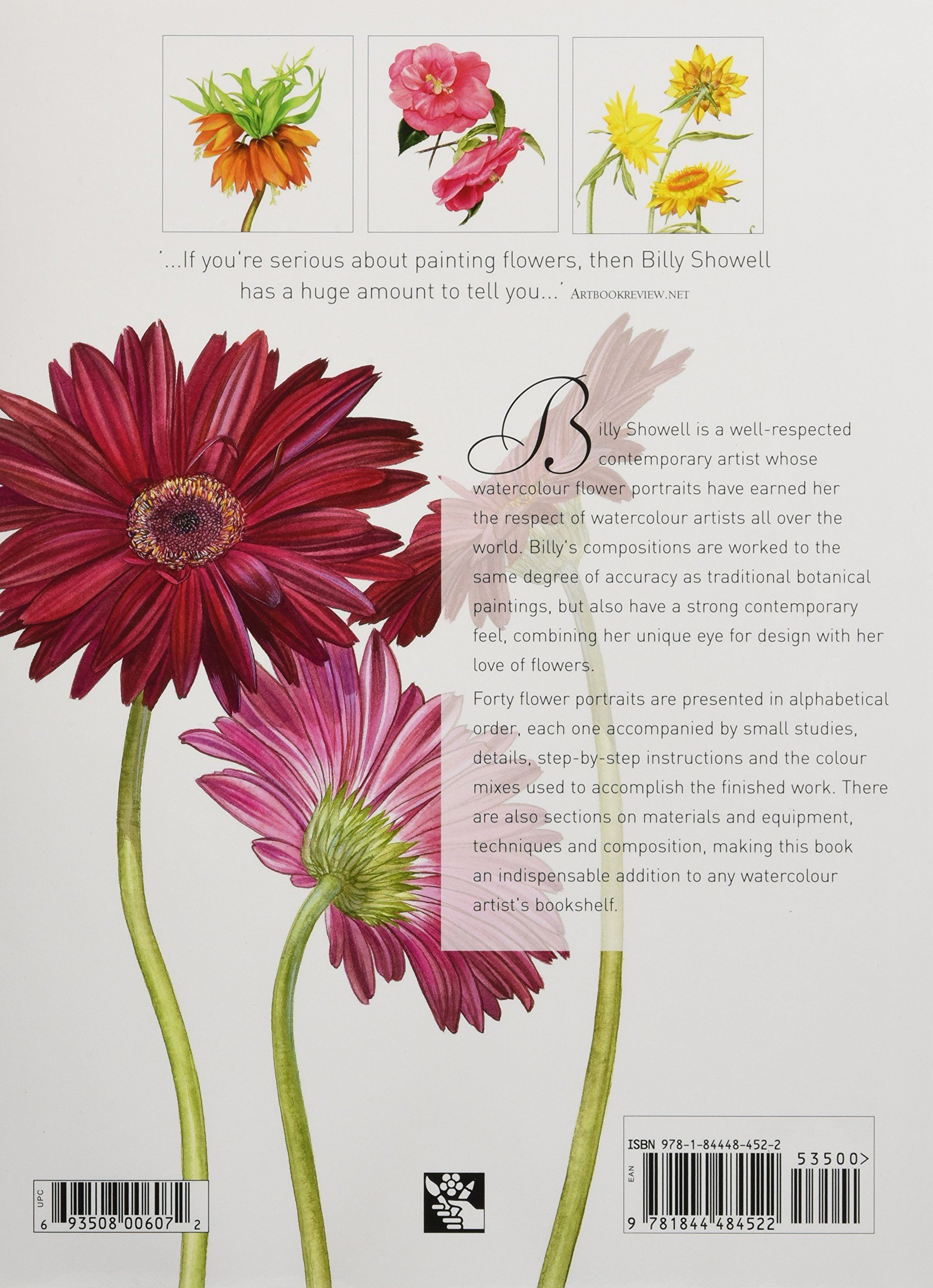 A Z Of Flower Portraits An Illustrated Guide To Painting 40 Beautiful Flowers In Watercolour Amazon Co Uk Billy Sho Botanical Prints Flowers Flower Painting