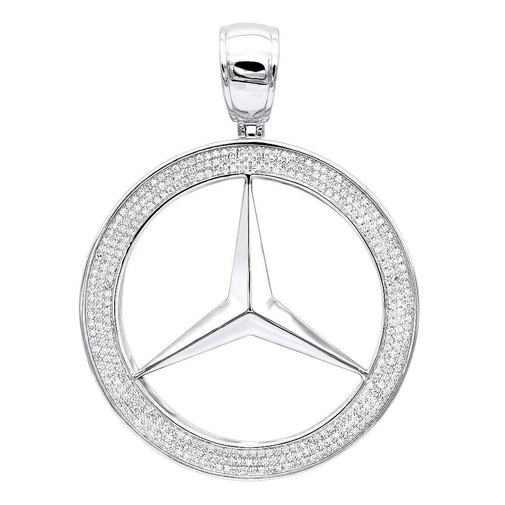 cf366488b4f09 10K Gold Diamond Mercedes-Benz Pendant for Men 1 Carat | Best Jewels ...