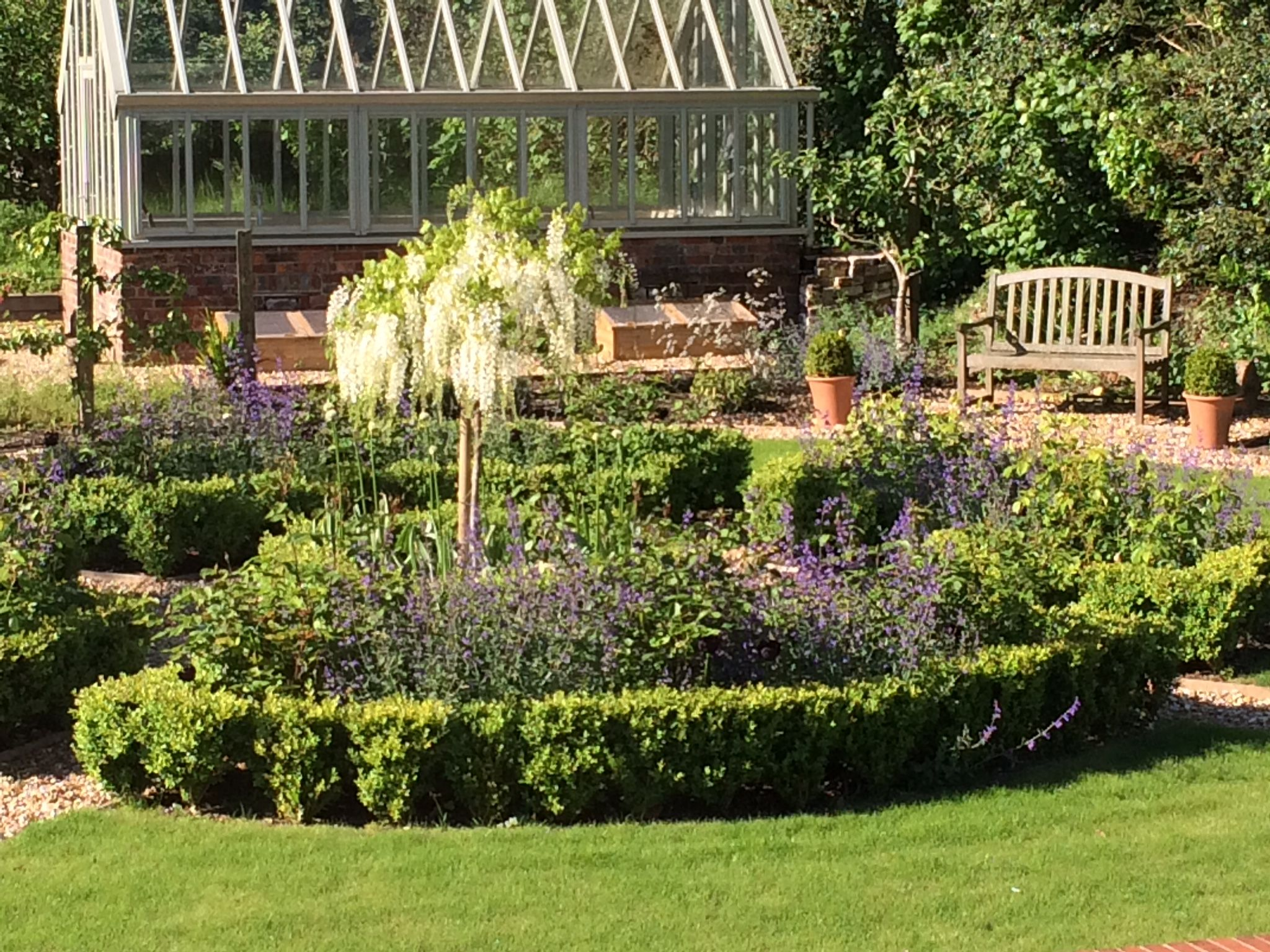 Parterre in a Hampshire garden making it the formal ...