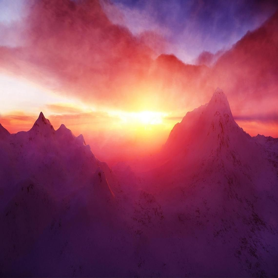 beautiful mountain dawn