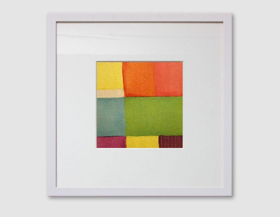 Schichtbild | Acryl auf Papier | 15 x 15 cm | gerahmt in Galerie ...