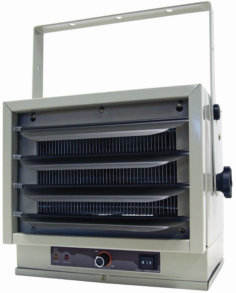 5000 Watt Ceiling Mount Heater Garage Shop Space 240 Volt Adjustable Angle New Garage Heater Comfort Zone Home Appliances