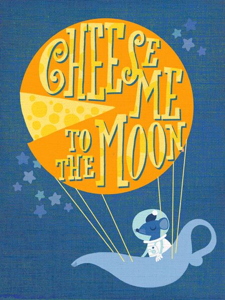 cheese me to the moon by marco marella https://www.behance.net/marcomarella