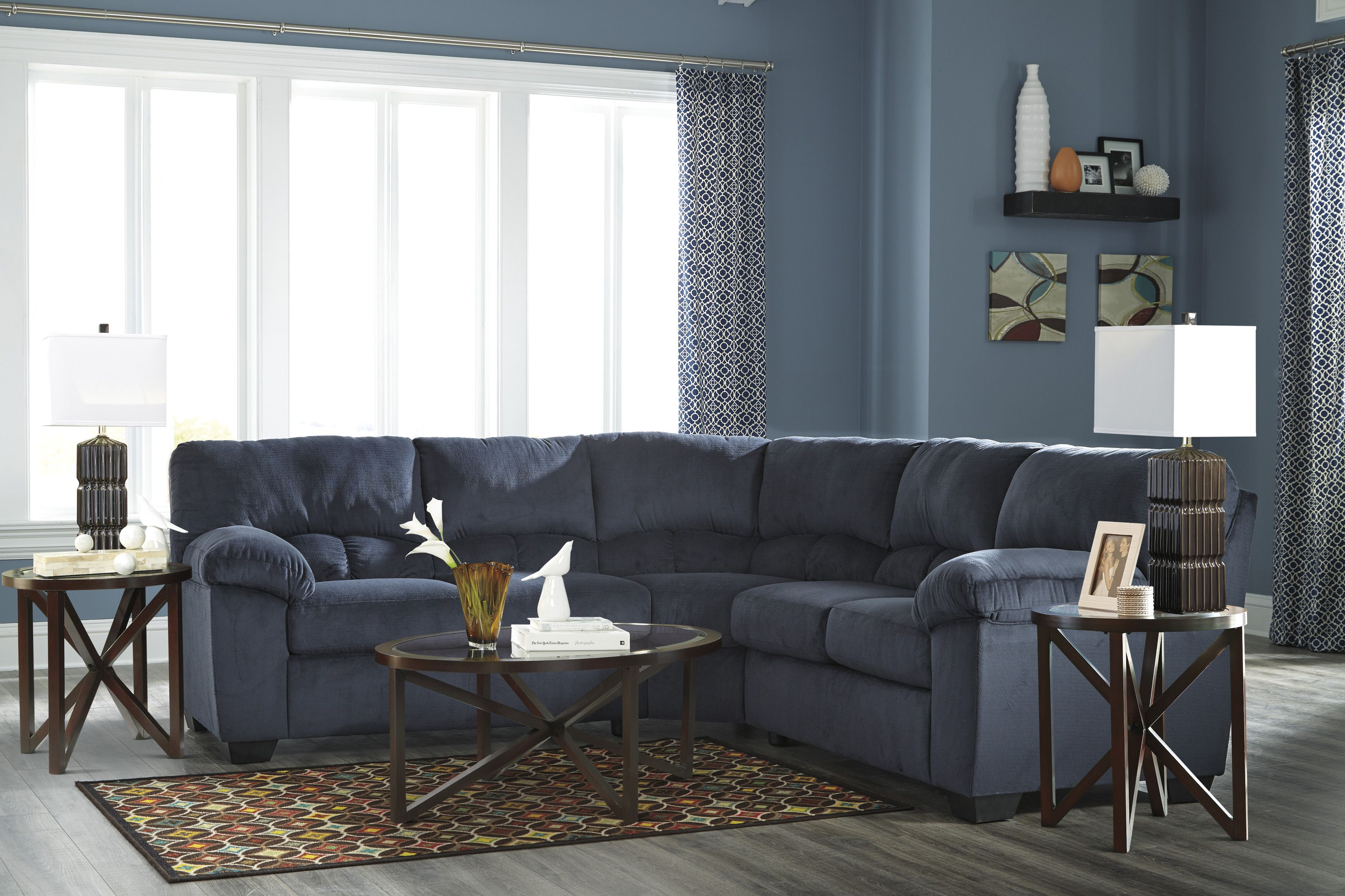 Dailey Sectional In Midnight Blue By Ashley Furniture Furniture Sofa Styling Ashley Furniture