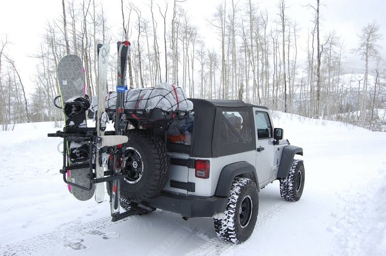 Jk Ski Mobile Jeep Skiing Ski Rack