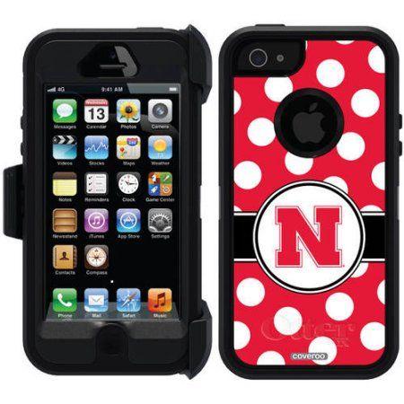 Nebraska Polka Dots Design on OtterBox Defender Series Case for Apple iPhone 5/5s