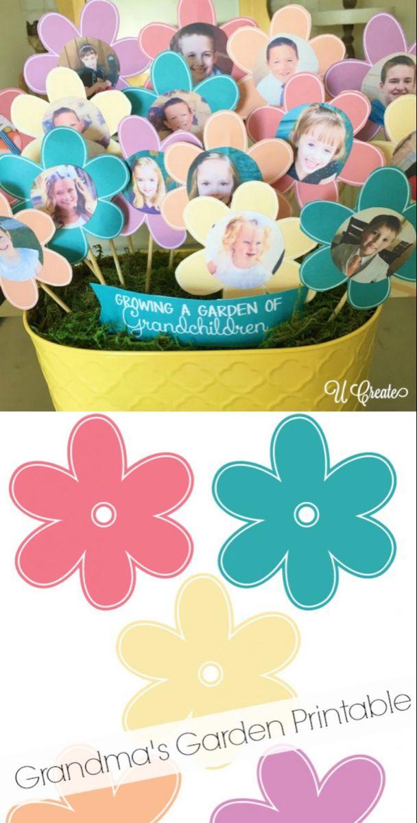 Grandma's Garden Paper Flower Bouquet #grandparentsdaygifts
