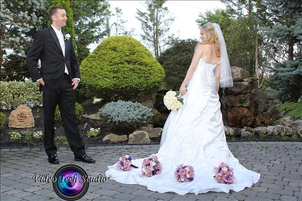 bride & groom at grand marquis catering hall, #wedding