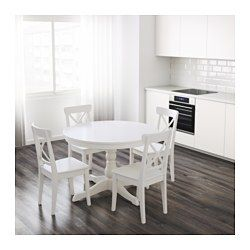 Ingatorp Table Extensible Blanc Extendable Dining Table