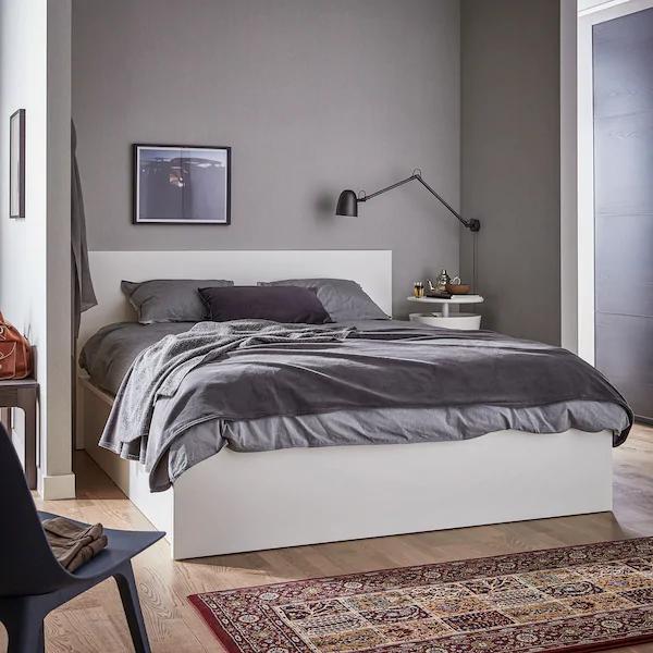 Malm Bettgestell Mit Aufbewahrung Weiss Ikea Deutschland Bettgestell Bettwasche Schwarz Bett Lagerung