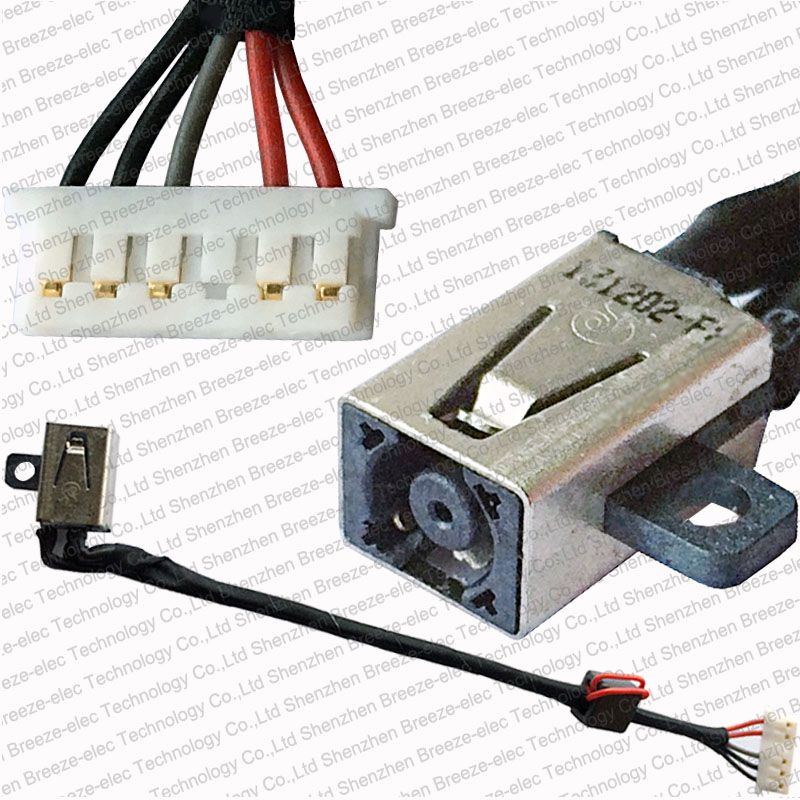 Laptop DC Power Jack socket Cable Wire connector for Dell Inspiron ...
