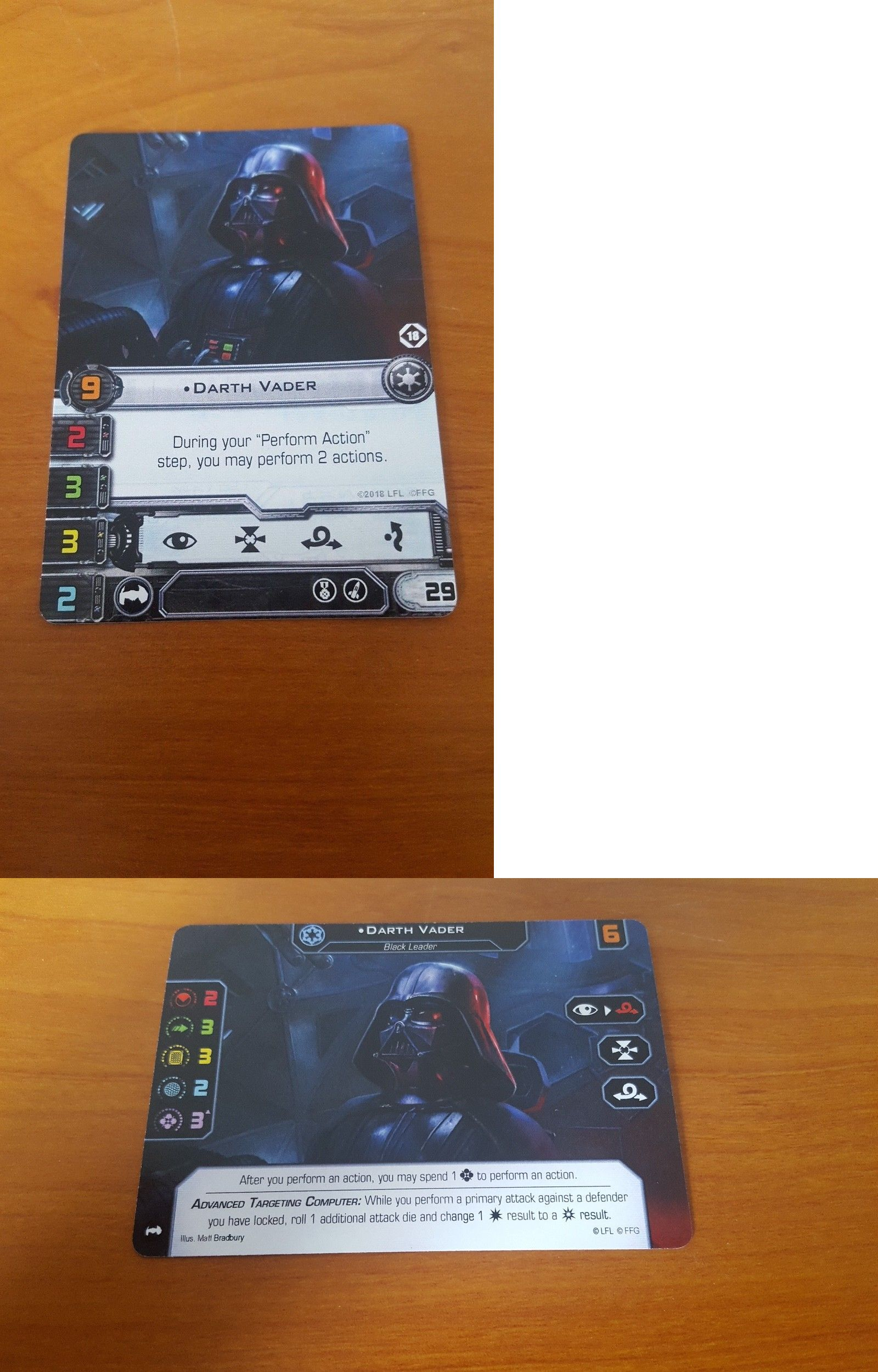 Games 233 Gen Con 2018 Star Wars X Wing Darth Vader Dual Sided 1 0 And 2 0 Ffg Promo Buy It Now Only 35 On Ebay Card Games Darth Vader Star Wars