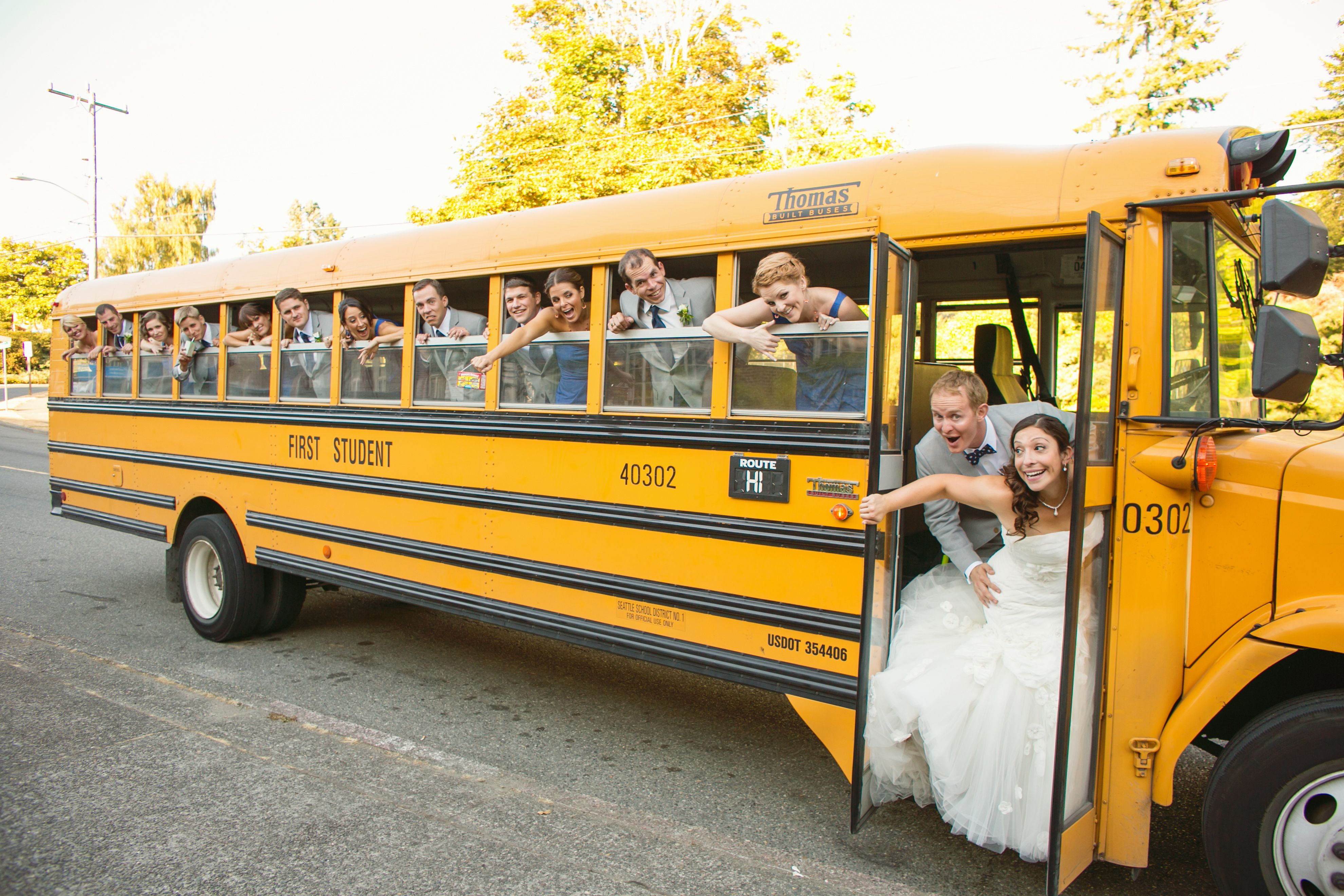 Wedding Transportation By School Bus Planning Simply Wed Www Simplywed