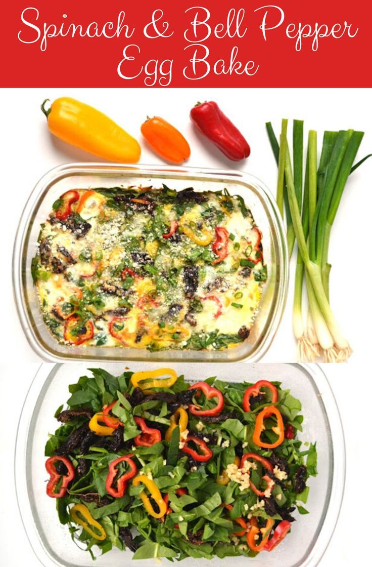 Photo of Spinach and Bell Pepper Egg Bake