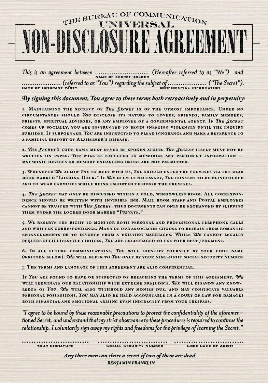 FILL IN THE BLANK CORRESPONDENCE NDA NONDISCLOSURE AGREEMENT - Blank non disclosure agreement template