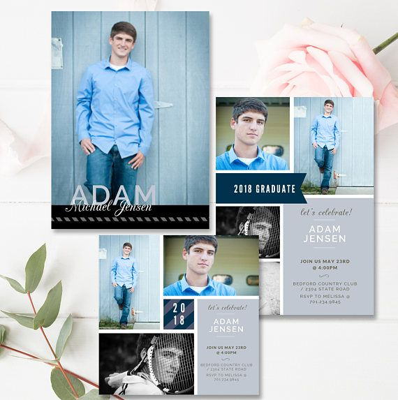 Senior Graduation Announcement Template Senior Card Template ...