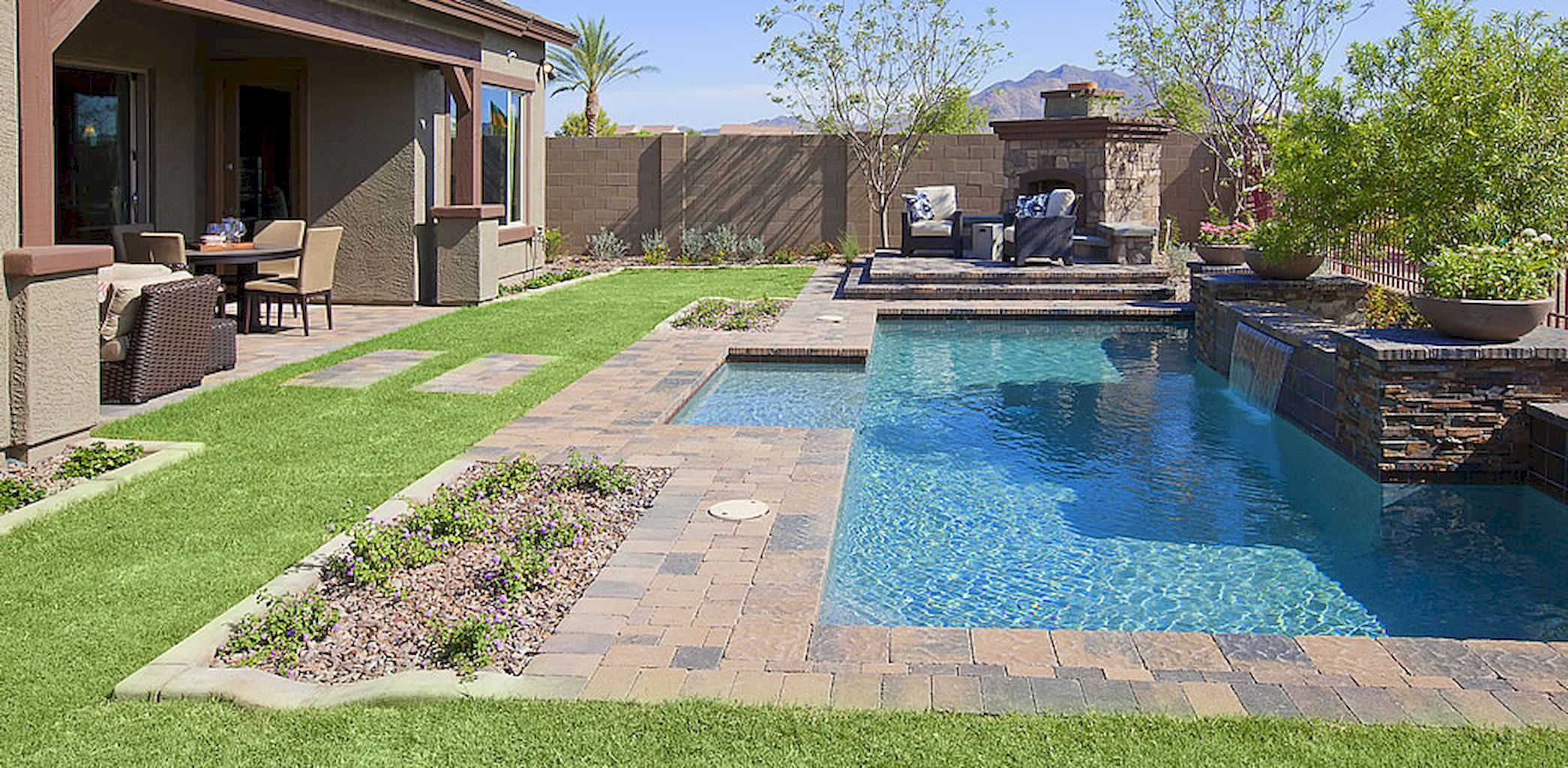 Arizona Backyard Ideas With Pool