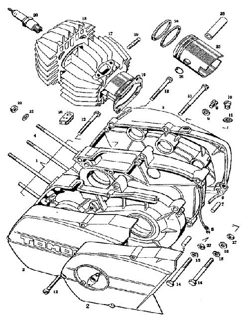 Bing Puch Exploded Moped Diagram, Sheet Music